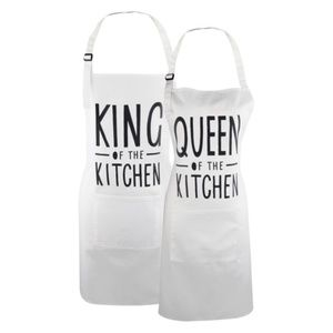 Couples Queen King of The Kitchen Aprons